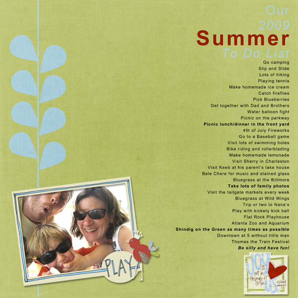 Summer to do list 2009