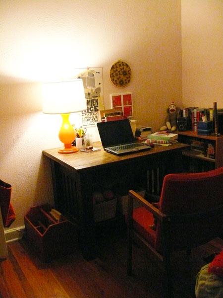 New desk area